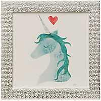 Unicorn Magic Hearts Framed Art Print