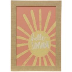 Coral Hello Sunshine Framed Art Print