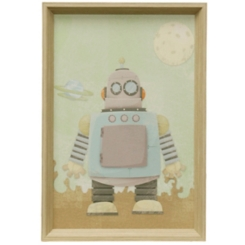 Blue Robot Framed Art Print