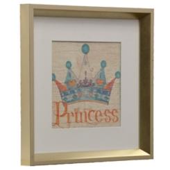 Blue Princess Crown Framed Art Print