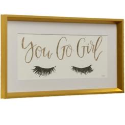 Eyelash Girl Power Framed Art Print