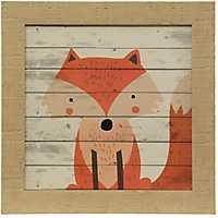 Woodland Creatures Fox Textured Framed Art Print