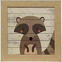Woodland Creatures Raccoon Framed Art Print