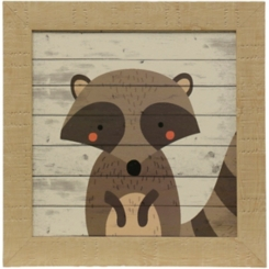 Woodland Creatures Raccoon Framed Art Print
