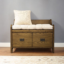Monte Coffee Storage Bench with Tufted Cushion