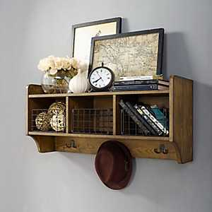 Coffee Monte Storage Shelf with Baskets and Hooks