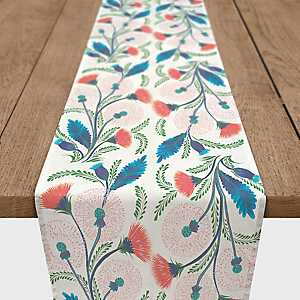 Colorful Wildflowers Table Runner