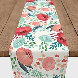 Poppy Flowers Table Runner