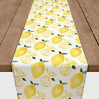 Yellow Fresh Lemons Table Runner