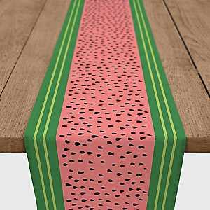 Fresh Watermelon Table Runner