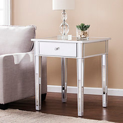 Cara Mirrored Accent Table