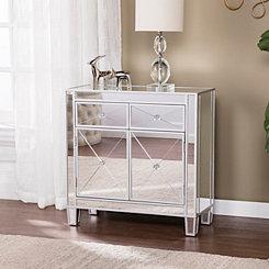 Cara Silver Matte Mirrored Cabinet