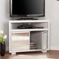 Cara Mirrored Corner TV Stand