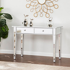 Cara Mirrored Console Table with 2-Drawers