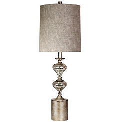 Brushed Mercury Glass Table Lamp