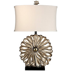 Modern Petal Silver Table Lamp