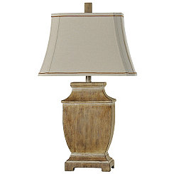 Traditional Faux Wood Table Lamp