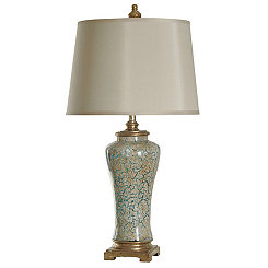 Caledonia Blue and Gold Finish Table Lamp