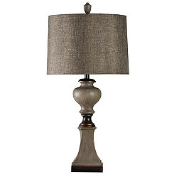 Deer Valley Table Lamp with Designer Fabric Shade