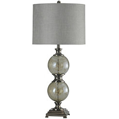 Black Nickel and Glass Table Lamp