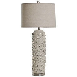 Textured Ceramic Cream Table Lamp