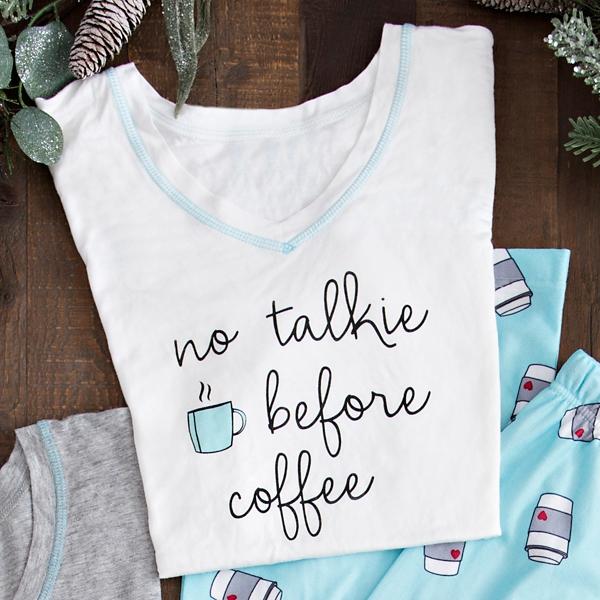 No Talkie Before Coffee Popstitch Shirt