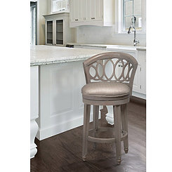Gold and Silver Metallic Swivel Counter Stool