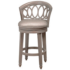 Gold and Silver Metallic Swivel Bar Stool
