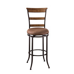 Charlene Swivel Ladder Back Tan Counter Stool