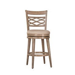 Christie Gray Lattice Back Swivel Bar Stool