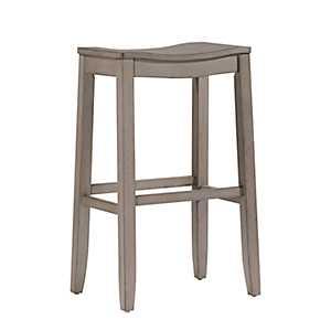 Finley Saddle Seat Gray Bar Stool