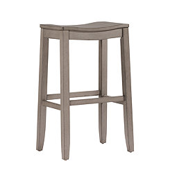 Finley Saddle Seat Gray Bar Stool