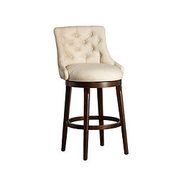 Brooke Swivel Tufted Back Bar Stool