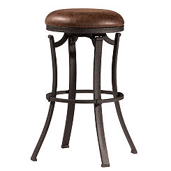 Kelvin Swivel Cocoa Fabric Seat Counter Stool