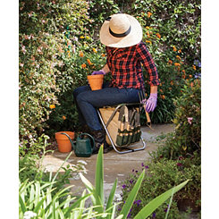 Olive Gardener Folding Seat with Tools