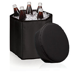 Black Portable Cooler Seat