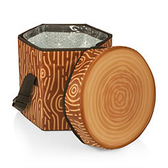 Tree Stump Portable Cooler Seat