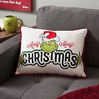 Merry Merry Christmas Grinch Accent Pillow