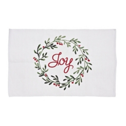 Red and Green Joy Wreath Accent Rug, 2x4