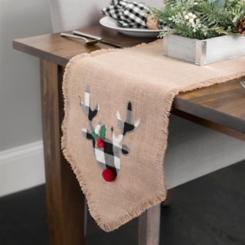 Buffalo Check Reindeer Table Runner