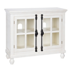 Antique White Cabinet with Black Hardware