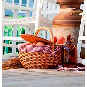 Red Check Country Picnic Basket