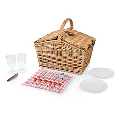 Red Check Piccadilly Picnic Basket Set