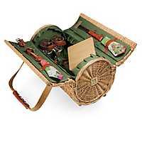 Verona Wine and Cheese Barrel Picnic Basket Set