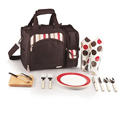 Brown Malibu Stripe Cooler Set