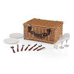 Bristol Plaid Picnic Basket Set
