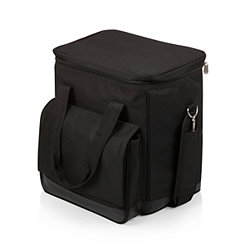 Black 6-Bottle Cooler Tote