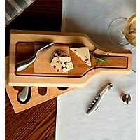 Silhouette Cheese Board with Tool Set