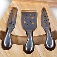 Swiss Cheese Board with Tool Set