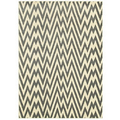 Gray Jagged Chevron Area Rug, 8x10